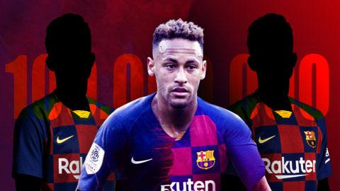 Barca đề nghị 100 triệu euro cộng hai sao tùy chọn đổi lấy Neymar
