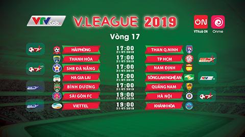 Vòng 17 V.League- 2019: Tâm điểm màn so tài HAGL - SLNA trực tiếp trên VTVcab ON