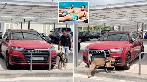 Xế hộp của Messi và Suarez bị nghi gài bom