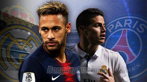 Chuyển nhượng 13/8: Real tính trả 120 triệu euro cộng James đổi lấy Neymar