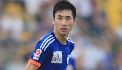 Giật chỏ đối thủ, Hải Huy bị đình chỉ 2 trận trong màu áo Than.QN