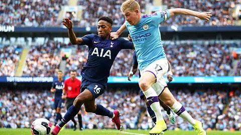 Man City giành 10 điểm trước Spurs, De Bruyne góp đến 9
