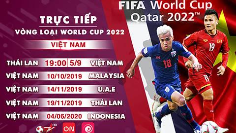 VTVcab trực tiếp 5 trận của ĐTVN tại vòng loại World Cup 2022 trên Bóng đá TV, DV ON và ứng dụng Onme