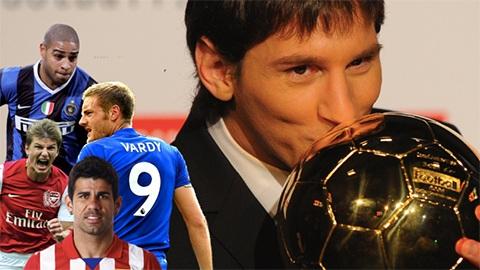 Top 15 'Cầu thủ hay nhất' ở các cuộc bình chọn Quả bóng Vàng kể từ năm 2005