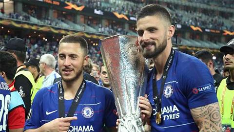 Đánh bại Jovic và Giroud, Hazard giành giải cầu thủ hay nhất Europa League 2018/19