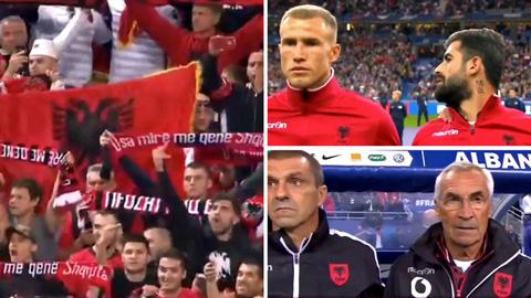 Trận Pháp vs Albania bắt đầu muộn do nhầm quốc ca