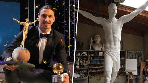 Ibrahimovic khánh thành bức tượng nặng nửa tấn ở quê nhà