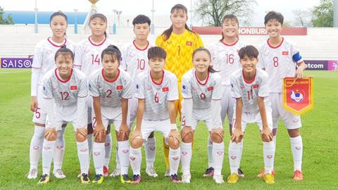 Nữ Việt Nam thua đáng tiếc 0-1