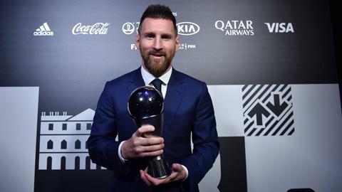 Messi lần đầu giành giải The Best, Ronaldo không đến dự