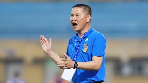 HLV Chu Đình Nghiêm (Hà Nội FC): 'Cơ hội của hai đội vẫn là 50-50'