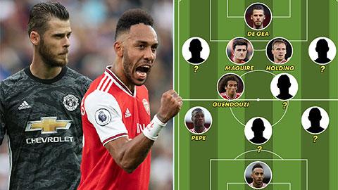 M.U chỉ có 4 cầu thủ góp mặt ở đội hình kết hợp với Arsenal