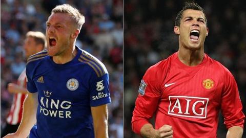 Vardy vượt mặt Ronaldo tại Premier League