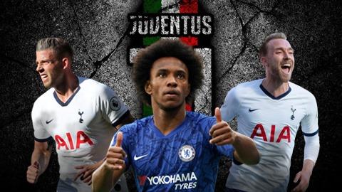 Juventus nhắm 3 hàng tuyển miễn phí Hè 2020