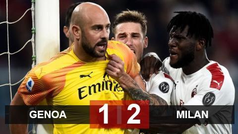 Genoa 1-2 Milan: Rossoneri leo lên vị trí 11 sau trận cầu 4 thẻ đỏ