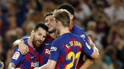 Barca thắng đậm Sevilla: Chỉ đẹp ở tỷ số