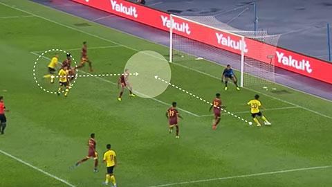 Syafiq Ahmad thực hiện điều tương tự ở bàn thắng tiếp theo của Malaysia vào lưới Sri Lanka. Lần này, Talaha là người kết thúc