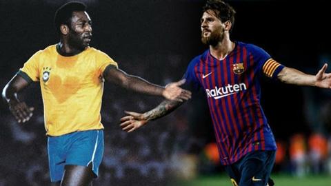 Messi bắt đầu cuộc săn... Pele