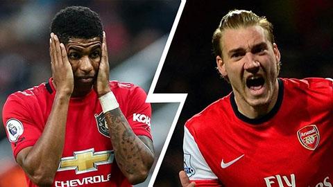 """CĐV Arsenal hả hê vì Rashford tệ hơn cả """"Chúa tể"""" Bendtner"""