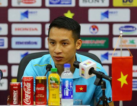 Hùng Dũng khẳng định các cầu thủ đã sẵn sàng cho mục tiêu thắng Malaysia - Ảnh: Phan Tùng