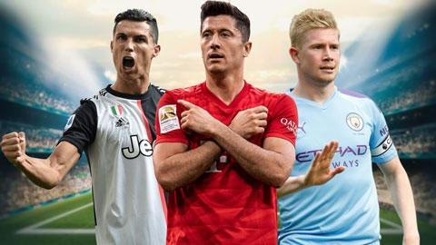 Những người đang dẫn đầu các chỉ số tại 5 giải hàng đầu mùa 2019/20