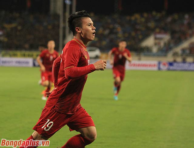 Bàn thắng của Quang Hải mang đến một lợi thế lớn cho đội tuyển Việt Nam