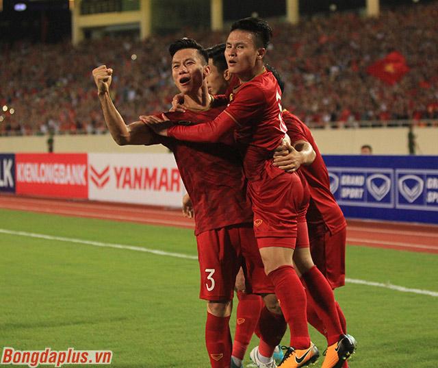 Niềm vui của đội tuyển Việt Nam