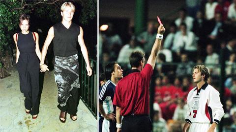 Chiếc thẻ đỏ của Beckham tại World Cup 1998 khiến Victoria bị ghét vạ lây