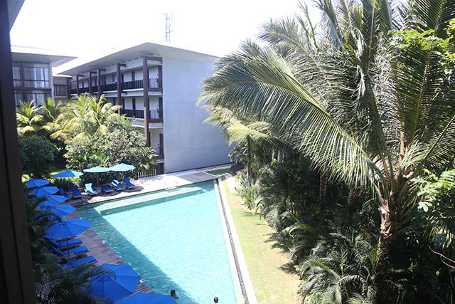 Một góc khách sạn nhìn từ phòng ngủ