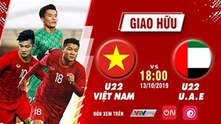 Xem trực tiếp U22 Việt Nam vs U22 UAE trên VTVcab