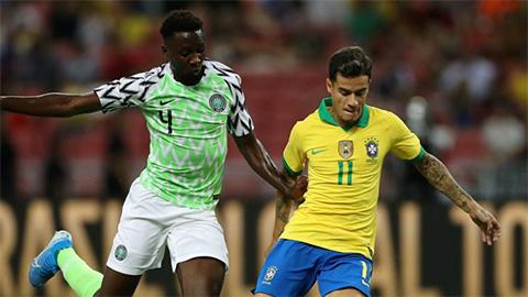 Brazil 1-1 Nigeria: Neymar chấn thương, Brazil lại không thắng