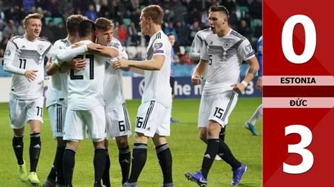 Estonia 0-3 Đức(Vòng loại Euro 2020)