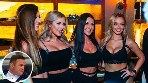 Rooney mở đại tiệc với gái ở quán bar, Coleen đại chiến với WAGs Anh