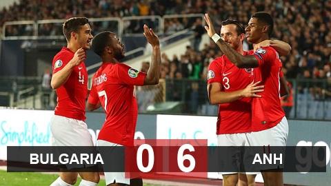 Bulgaria 0-6 Anh: Kane và Sterling tỏa sáng