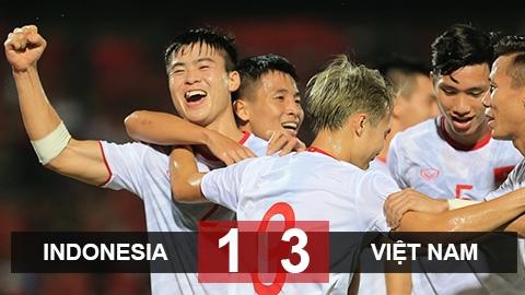 Việt Nam đánh bại Indonesia sau 20 năm không thắng