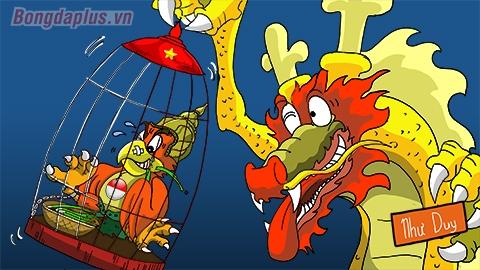 Rồng vàng Việt Nam tóm gọn Kim Sí điểu Indonesia
