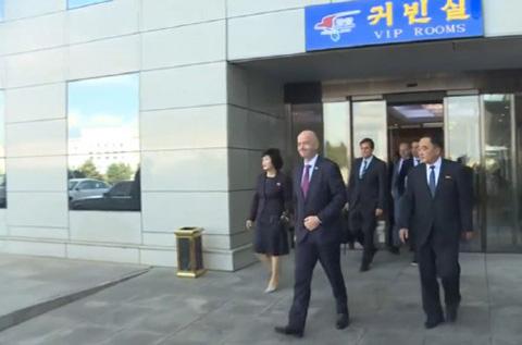 Chủ tịch FIFA dự khán trận cầu lịch sử