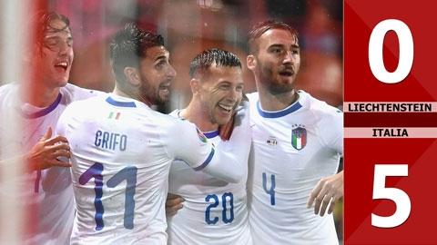 Liechtenstein 0-5 Italia(Vòng loại Euro 2020)