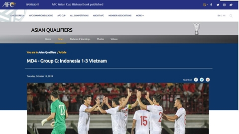 Truyền thông châu Á: 'Indonesia vật lộn tìm phép màu trước Việt Nam'