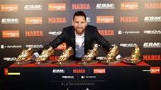 Messi lần thứ 6 nhận giải chiếc Giày vàng châu Âu