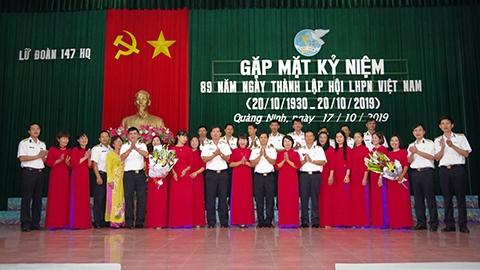 Lữ đoàn 147 Hải quân gặp mặt, kỷ niệm 89 năm ngày thành lập Hội Liên hiệp phụ nữ Việt Nam