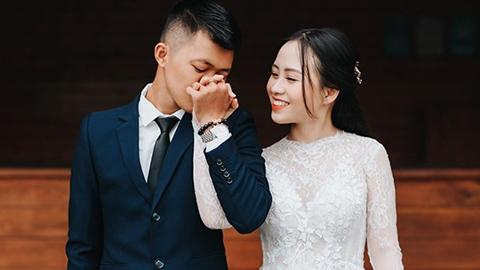 Ảnh cưới lung linh của thủ quân Sài Gòn FC và hot girl ngân hàng