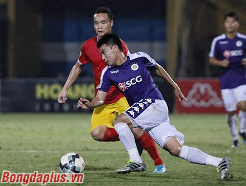 Đức Huy muốn cùng Hà Nội FC chinh phục Cúp Quốc gia trước khi nghĩ đến chuyện tương lai mùa tới - Ảnh: Phan Tùng