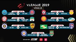 Ai đi, ai ở ? Vòng 25 V.League 2019 trực tiếp trên VTVcab và ON
