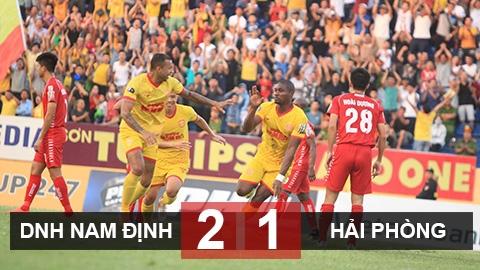 DNH Nam Định 2-1 Hải Phòng: Chủ nhà trụ hạng sớm 1 vòng đấu