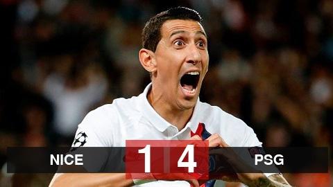 Nice 1-4 PSG: Di Maria và Mbappe cùng nổ súng, PSG đại thắng trên đất khách