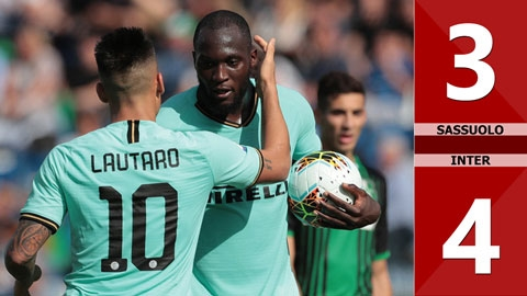 Sassuolo 3-4 Inter(Vòng 8 Serie A 2019/20)