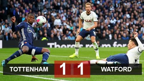 Tottenham 1-1 Watford: Chưa qua khủng hoảng