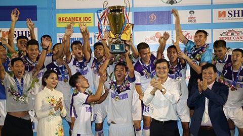 Hà Nội san bằng kỷ lục vô địch U21 Quốc gia của SLNA
