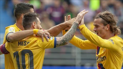 Griezmann cho thấy mình đủ sức sát cánh cùng Messi và Suarez