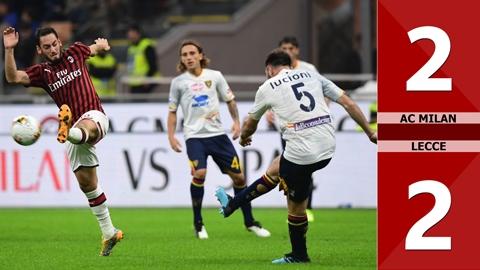 AC Milan 2-2 Lecce(Vòng 8 Serie A 2019/20)